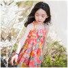 Spring Summer Pretty Bohemian Beach Girls Dress Sundress Floral Swing Dress For Girls