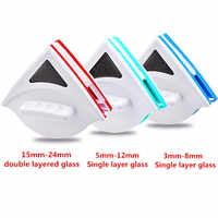 Home Window Wiper Glass Cleaner Brush Tool Double Side Magnetic Brush for Washing Windows Glass Brush Cleaning Tool 3-30MM Clean