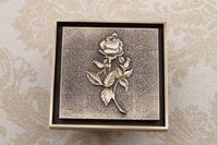 10cm*10cm Europe Style Antique Brass Art Carved rose Brass Floor Drain Cover Shower Waste Drainer