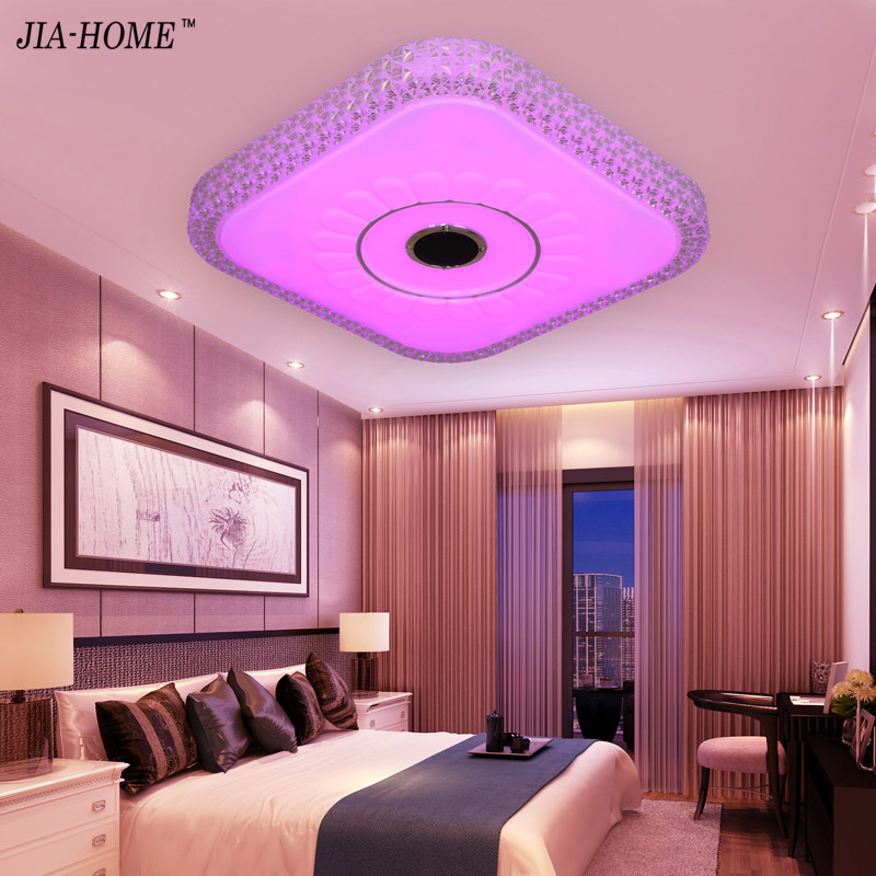 LED ceiling light for bedroom living room Via Phone Bluetooth ...