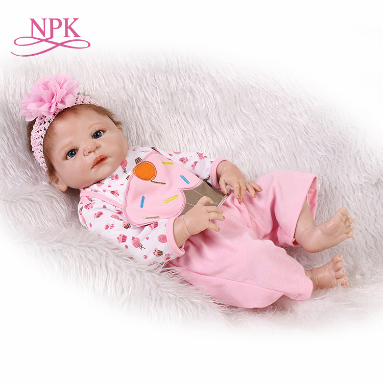 NPK reborn doll with soft real gentle touch 22inch full vinyl doll lifelike newborn baby Christmas Gift sweet babyNPK reborn doll with soft real gentle touch 22inch full vinyl doll lifelike newborn baby Christmas Gift sweet baby