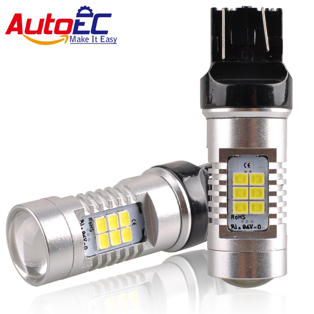 AutoEC 7440/7443 H1 H7 přední světlo 24 smd 2835 osobních automobilů směrová světla brzdové světlo brzdová světla žárovka DC 12-24v # LD26