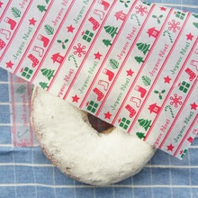 new 22*25cm 50pcs Christmas gift design Bread Cake Cookies Food Wrapping Paper Packaging Butter Baking chocolate use