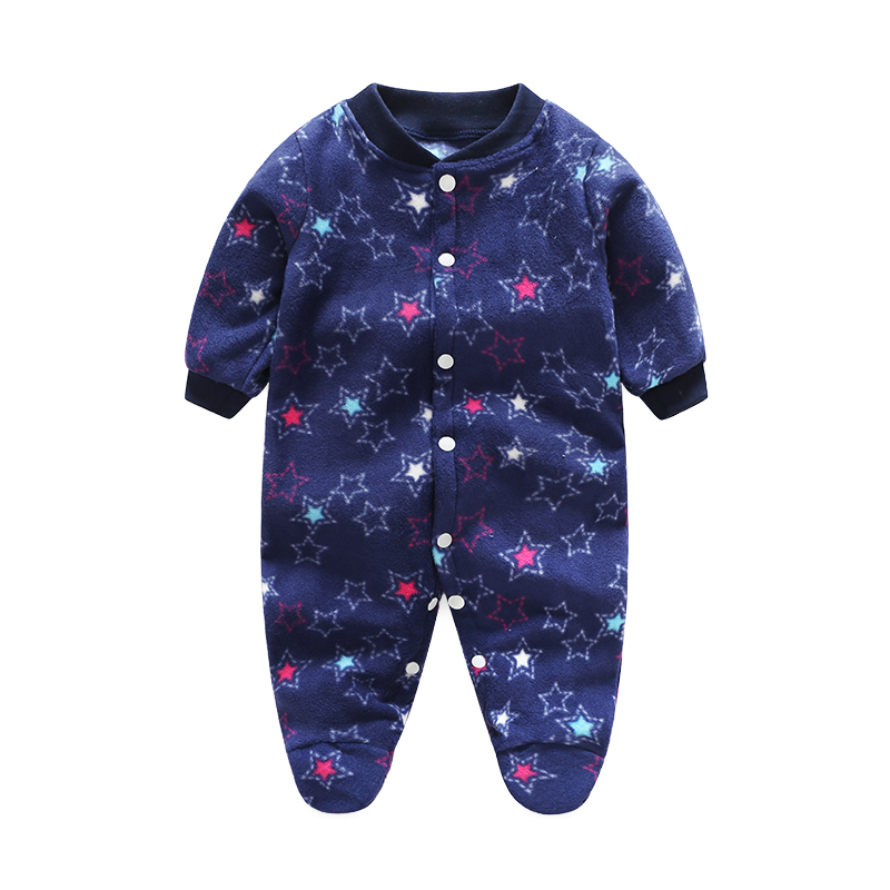 2017 Baby Rompers Fleece Long Sleeve 0-12M Baby Clothing Overalls for Newborn Baby Clothes Boy Girl Romper Ropa Bebes Jumpsuit infant baby girl rompers jumpsuit long sleeve for newborns baby boy brand clothing bebe boy clothes body romper baby overalls