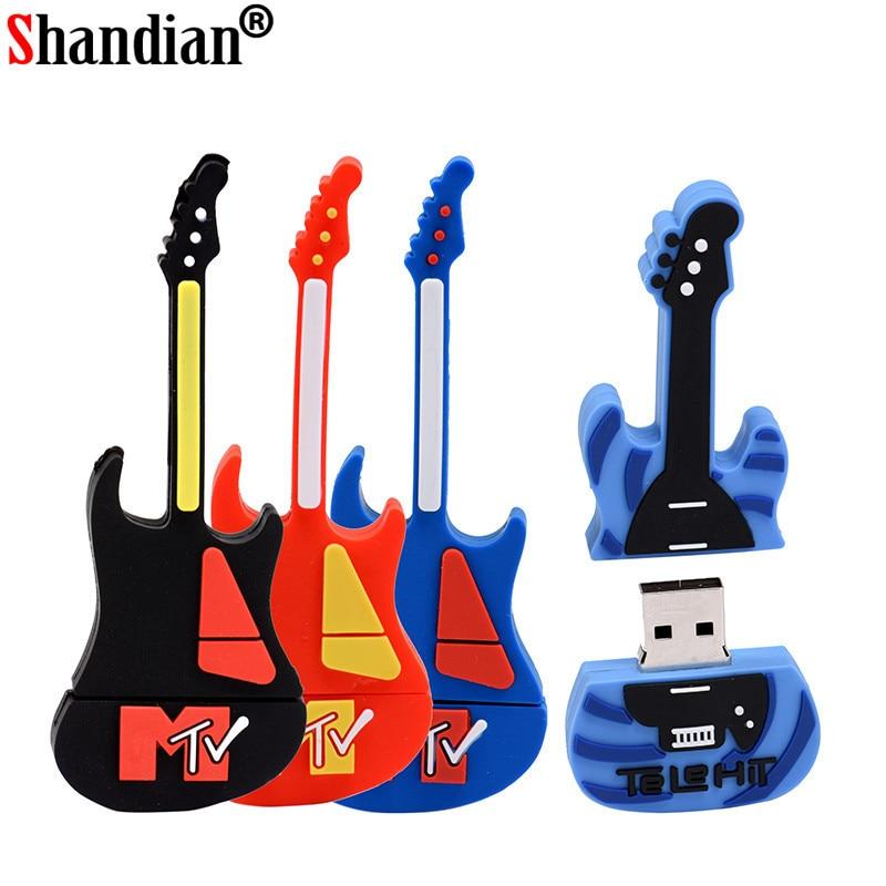 SHANDIAN Musical Instruments Model Pen Drive USB Flash Drive Guitar Pendrive 4gb 8g 16g 32g 64G Flash Memory Stick U Disk