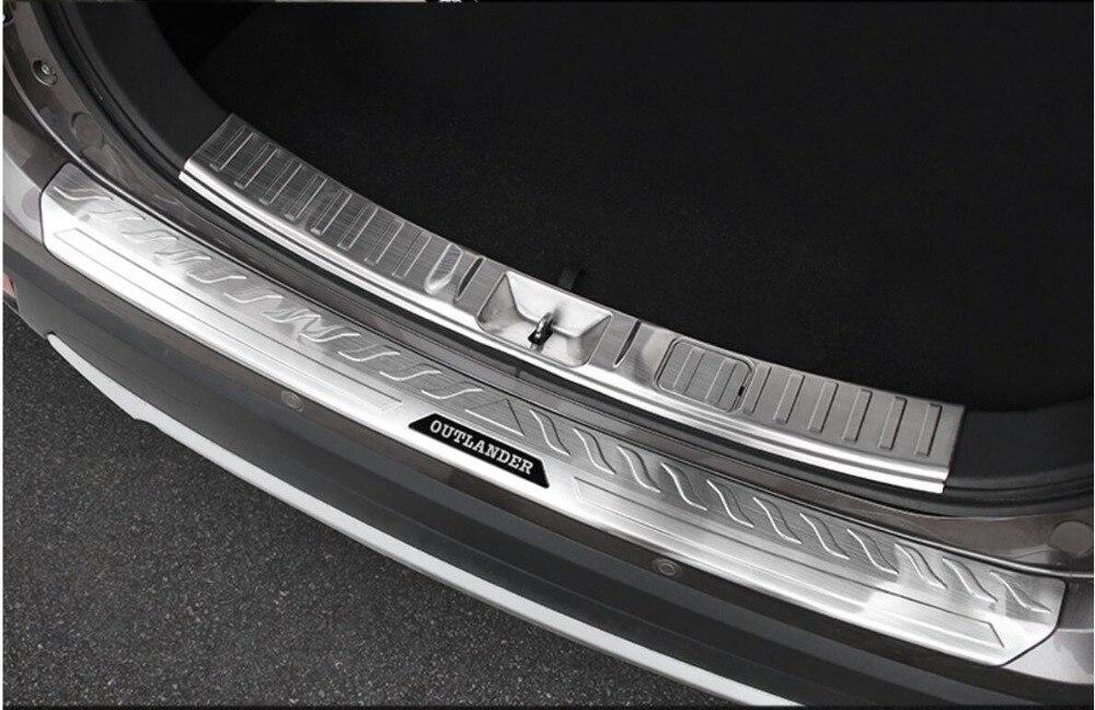 Rear Door Plate Bumper Cover Bar Trim Fits for Mitsubishi Outlander 2013-2018