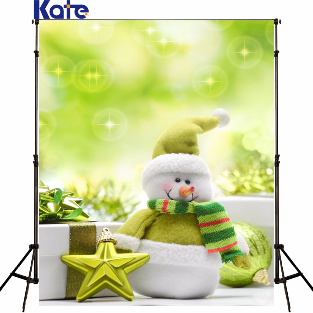 Kate Christmas Backdrop photography the Snowman Gift Venus toy bear green Photo Background Christmas backgrounds photo studio the snowman