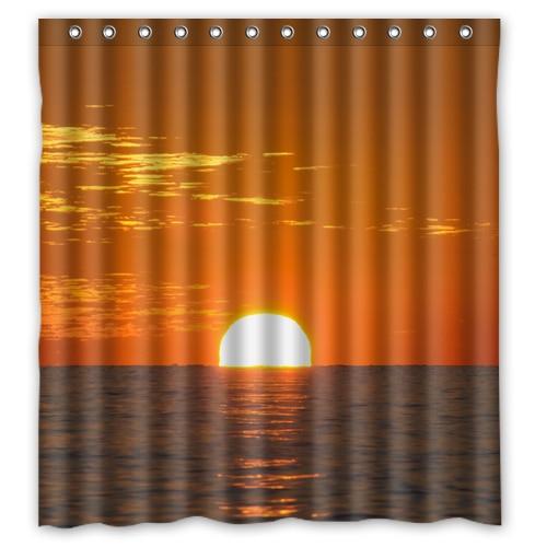 Sunset Sea Custom Create Design Bath Waterproof Bathroom Shower Curtains 48x72 60x72 66x72 Inches In From Home Garden On Aliexpress