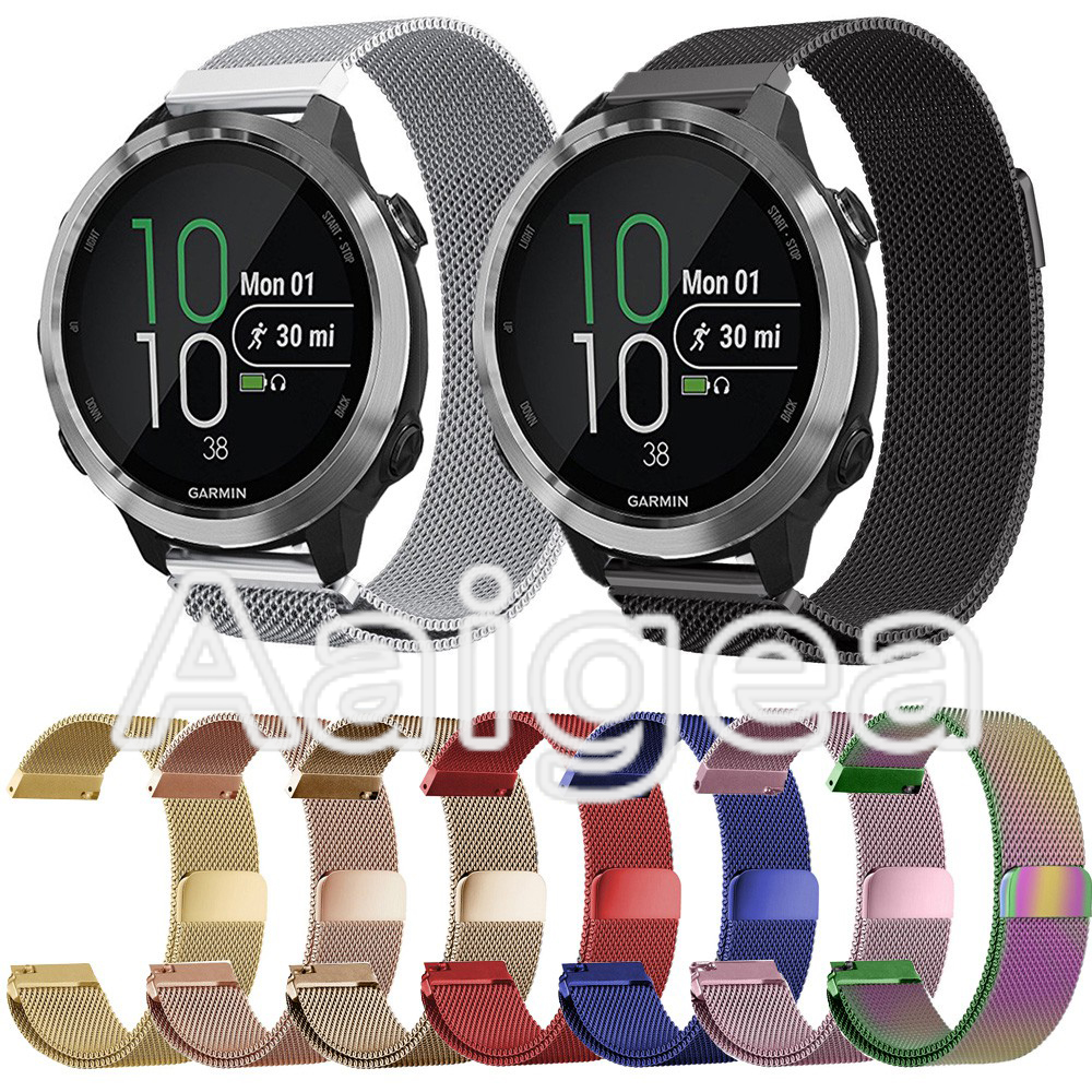 Milanese Stainless Steel Band Strap For Garmin Forerunner 645 Smart Watch Colorful Replacement Soft Band Metal Wrist Strap 20mm