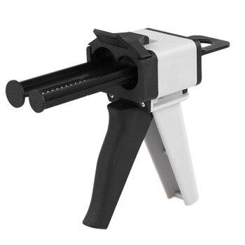 1Pc Epoxy Resin Caulk Mixing Gun Dispenser Applicator 50ml Ratio 1:1/2:1 W/ Mixer Nozzles,empty Ab Cartridges