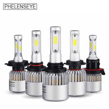 H7 H4/9003/HB2 LED Headlight Bulbs S2 72W 8000LM Car Styling 6500K led Automotivo led Headlamps H8/H9/H11 9005/HB3 9006/.HB4(China)