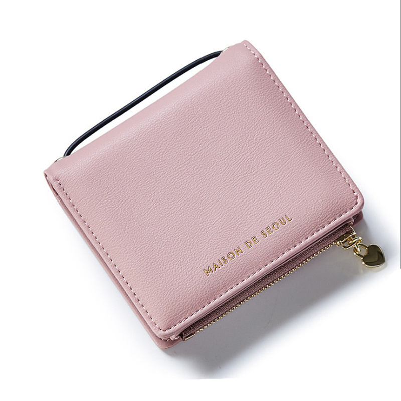 Wallet female short paragraph Japan Korea style fashionable multi-card bit cute little fresh mini student purse