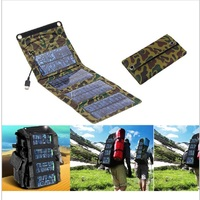 TUTUO 7W Foldable Smart USB Charger Solar Panel Source For Emergency Hiking Camping Travel Mobile Phone