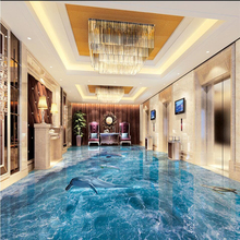 beibehang Beach beach waves surfing 3D floor tiles to paint background wall custom large mural stickers papel de parede