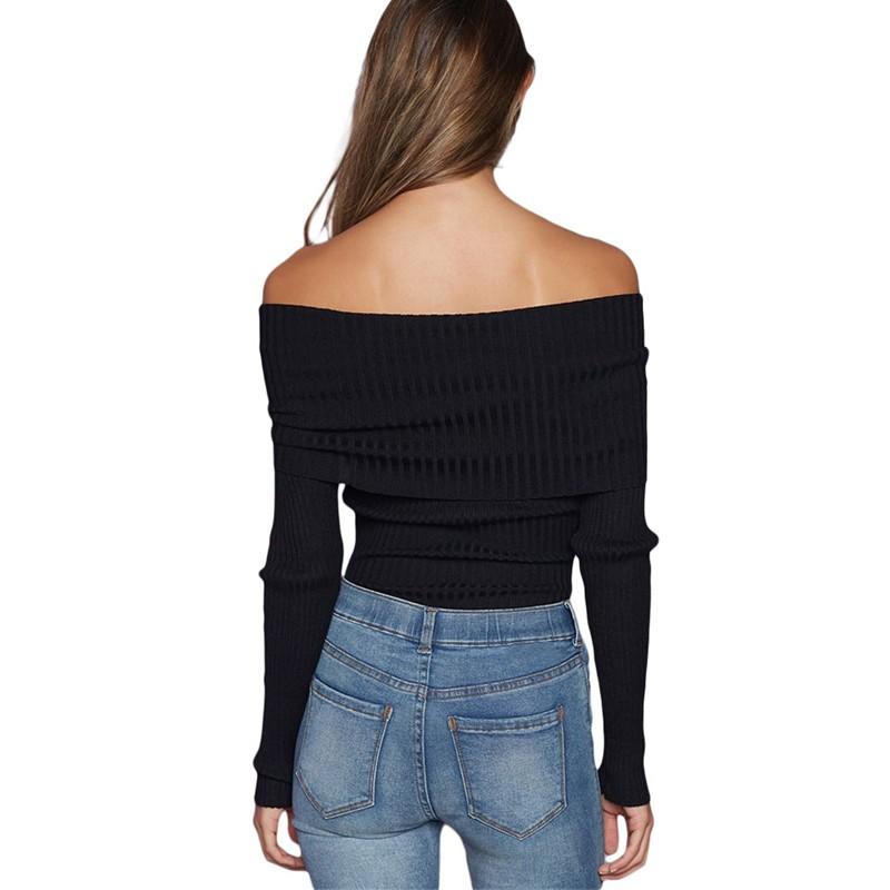 Black-Off-Shoulder-Ribbed-Knit-Long-Sleeve-Bodysuit-LC32083-2-19040-51469