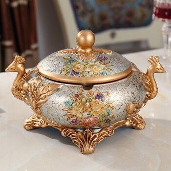 European luxury gift ashtray resin Phoenix retro Home Furnishing bar decoration decoration room