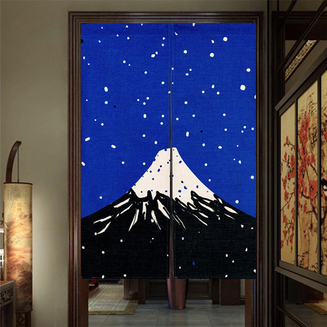 Japanese Style Canvas Door Curtains 3