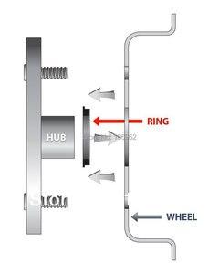Image 3 - 74.1 72.6mm 20 sztuk czarne plastikowe piasty koła Centric pierścienie dla BMW koła obręczy części akcesoria samochodowe
