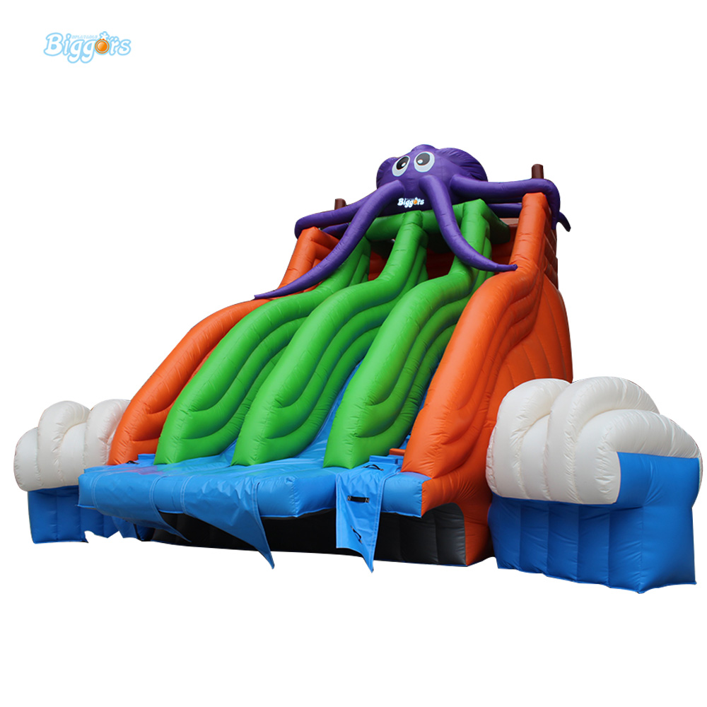 Inflatable Biggors professional Supplier Inflatable Water Slide For Pool From China commercial inflatable water slide with pool made of pvc tarpaulin from guangzhou inflatable manufacturer