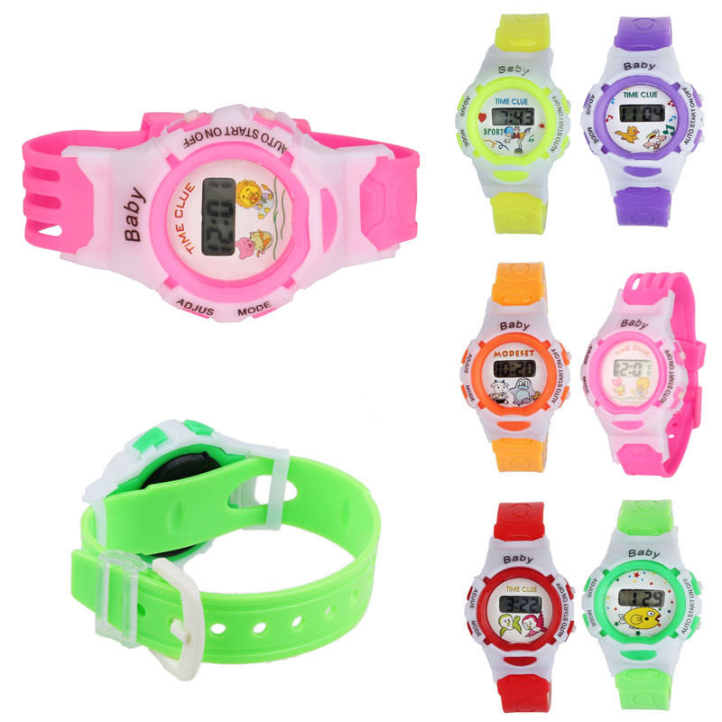Colorful Boys Girls Students Time Electronic Digital Wrist Sport Watch Dress Watch Gifts For Children Kids Clock Sport Watch