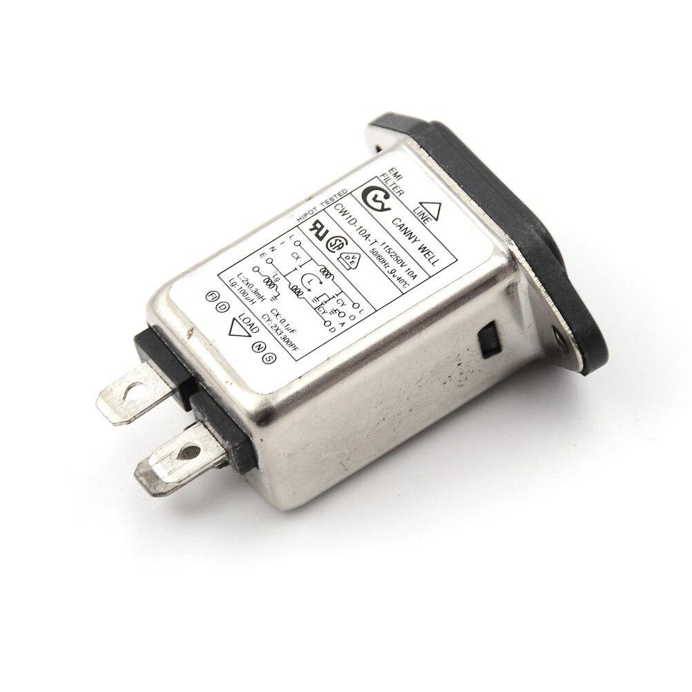 Messung Und Analyse Instrumente Flusssensoren GroßZüGig Heißer Emi Rfi Filter Ac 250 V 10a Cw1d-10a-t Suppressor Power Linie Noise Filter
