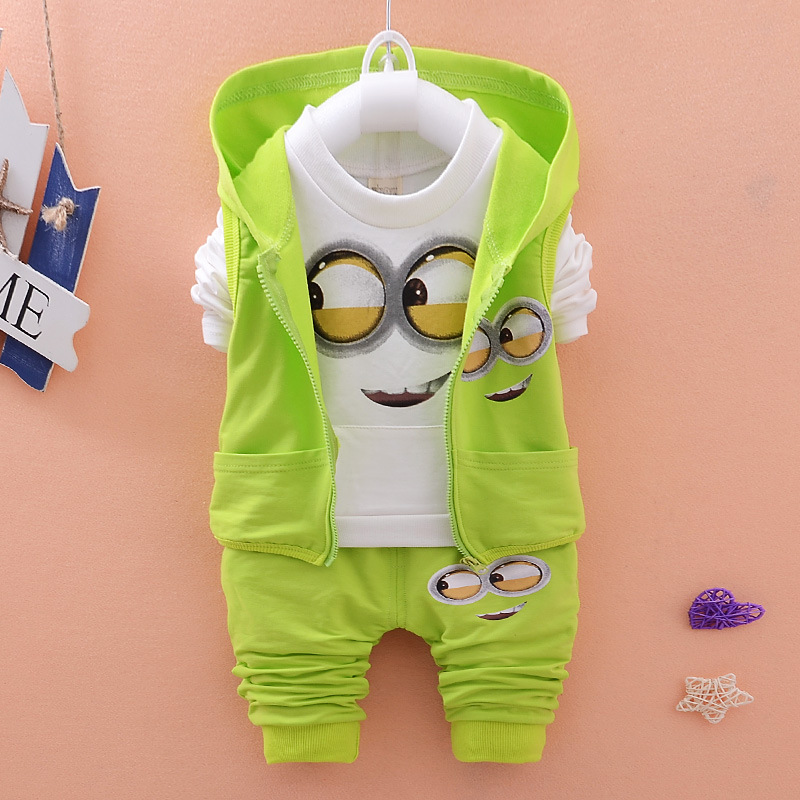 fa4d3a5f9 New Boys Girls Minions Suits Infant Newborn Baby Clothes Sets Kids ...