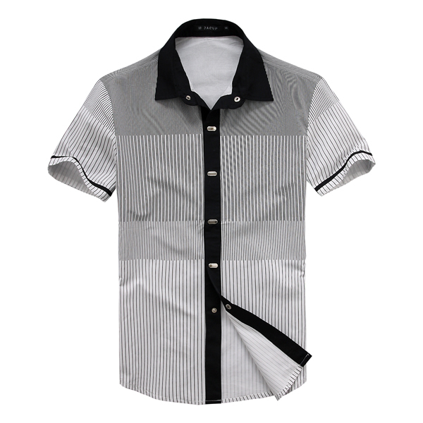 4ef339c3945 DEE MOONLY Men's brand shirts short sleeve stripes button down ...
