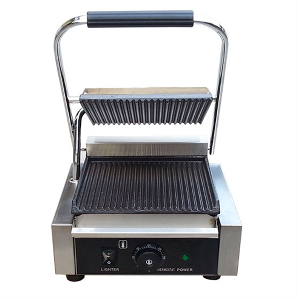 3 Choices 220V/1800W Non-stick Commercial Single Plate Steak Sandwich Toaster Machine Electric Griddle Electric Contact Grill стоимость