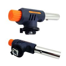 Outdoor Gas Torch Flamethrower Butane Burner Auto Ignition Camping Welding BBQ Travel