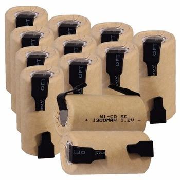 12 sztuk SC 1300mah 1.2v akumulator NICD akumulatory do makita bosch B & D Hitachi metabo dewalt do elektrycznego śrubokręta