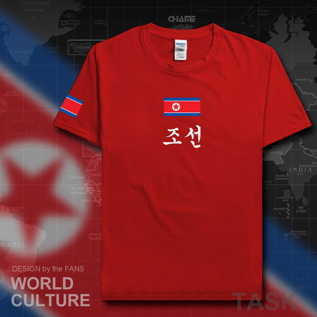 North Korea DPRK Korean t shirt fashion jersey nation team 100 cotton t-shirt clothing tees country sporting gyms KP PRK