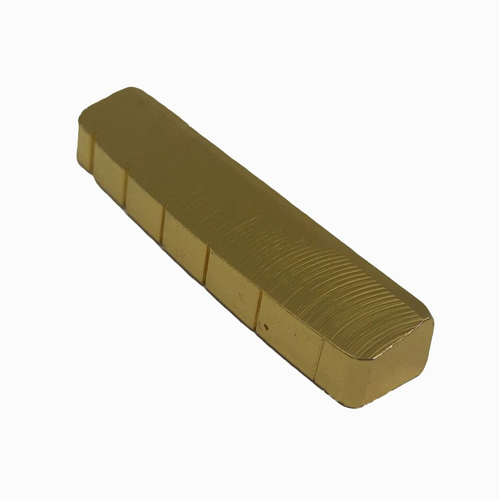 6 String Slotted Brass Gold Palted Acoustic Guitar Nut for Acoustic Guitar 42 * 6 * 8.2-7.5mm