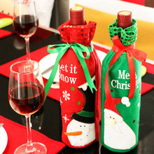 Sequins Wine Bottle Covers Bag Christmas Decoration For Home Party Decors Christmas Gifts adornos navidad 2016