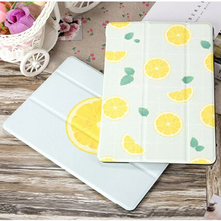 Cartoon Lemon Style Ultra slim Smart Case Cover For iPad Air 1/2 New 2018 Stand 234 mini Auto Wake Up/Sleep