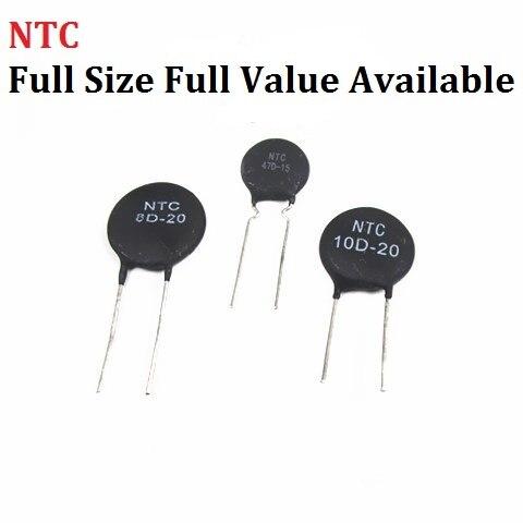 10 шт. терморезистор NTC, 5D-7 5D-9 5D-11 5D-15 5D-20 8D-20 10D-9 10D-11 10D-13 10D-15 10D-20 10D-25 47D-15 терморезистор