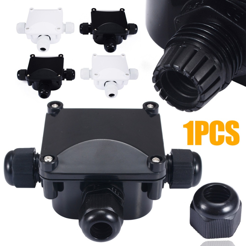 1pc Waterproof Junction Box Terminal 3 Port Underground Cable Protection Building Connectors IP68 For Street Lawn Flood Light