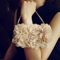 Luxe Lady PU Lederen Flip Case Portemonnee 3D Gaas Crème Rose Bloem Case Cover met sling Voor iphone 5 s 6 6 plus 7 7 plus 8
