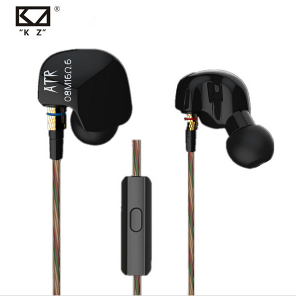 все цены на KZ ATR In-Ear earphone professional studio Earbuds high quality stereo headset for Iphone Xiaomi Huawei Tablet PC fone de ouvido онлайн