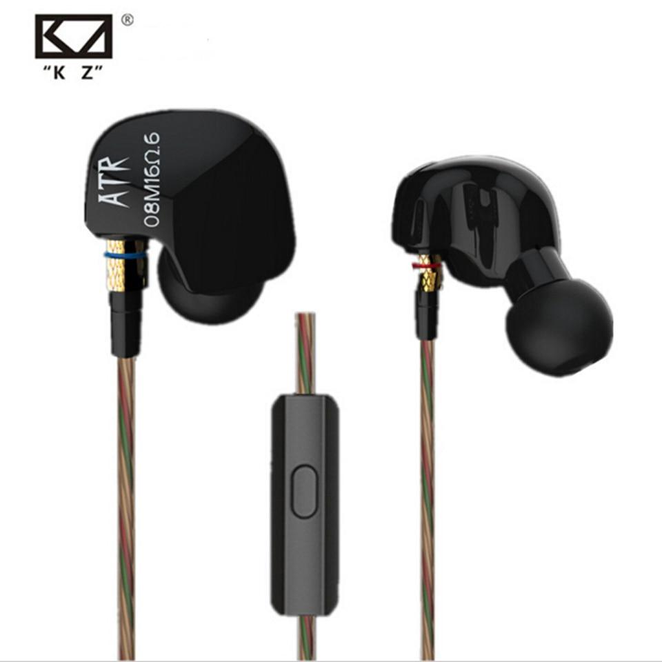 KZ ATR In-Ear earphone professional studio Earbuds high quality stereo headset for Iphone Xiaomi Huawei Tablet PC fone de ouvido