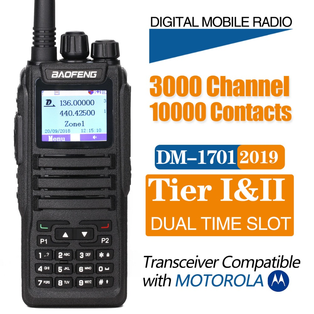 Generic DM-1701 Walkie Talkie Dual Time Slot DMR Digital