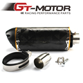 GT Motor - Universal Carbon Fiber yellow series Exhaust Fit for YAMAHA R6