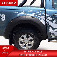 2012-2014 Fender Flare For Ford Ranger T6 Accessories Black Color Mudguards 2012 2013 2014 Car Flares Ycsunz