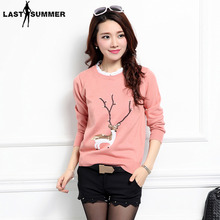New  Fashion 2019 Women Autumn Winter Embroidery Flower Sweater Pullovers Casual Warm Female Knitted Sweaters Pullover Lady