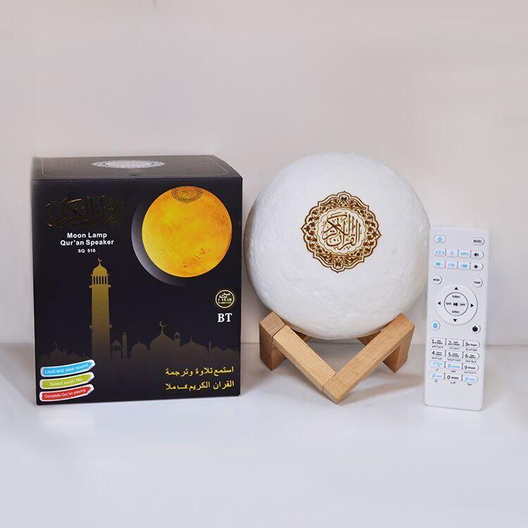 SQ-510 lune lampe coran haut-parleur 7 couleurs changer coran haut-parleur avec télécommande