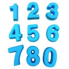Силиконовые формы для номер форма для выпечки пирожных формы для свадьбы День рождения Юбилей комплект для выпечки домашней выпечки формы полезные инструменты# O