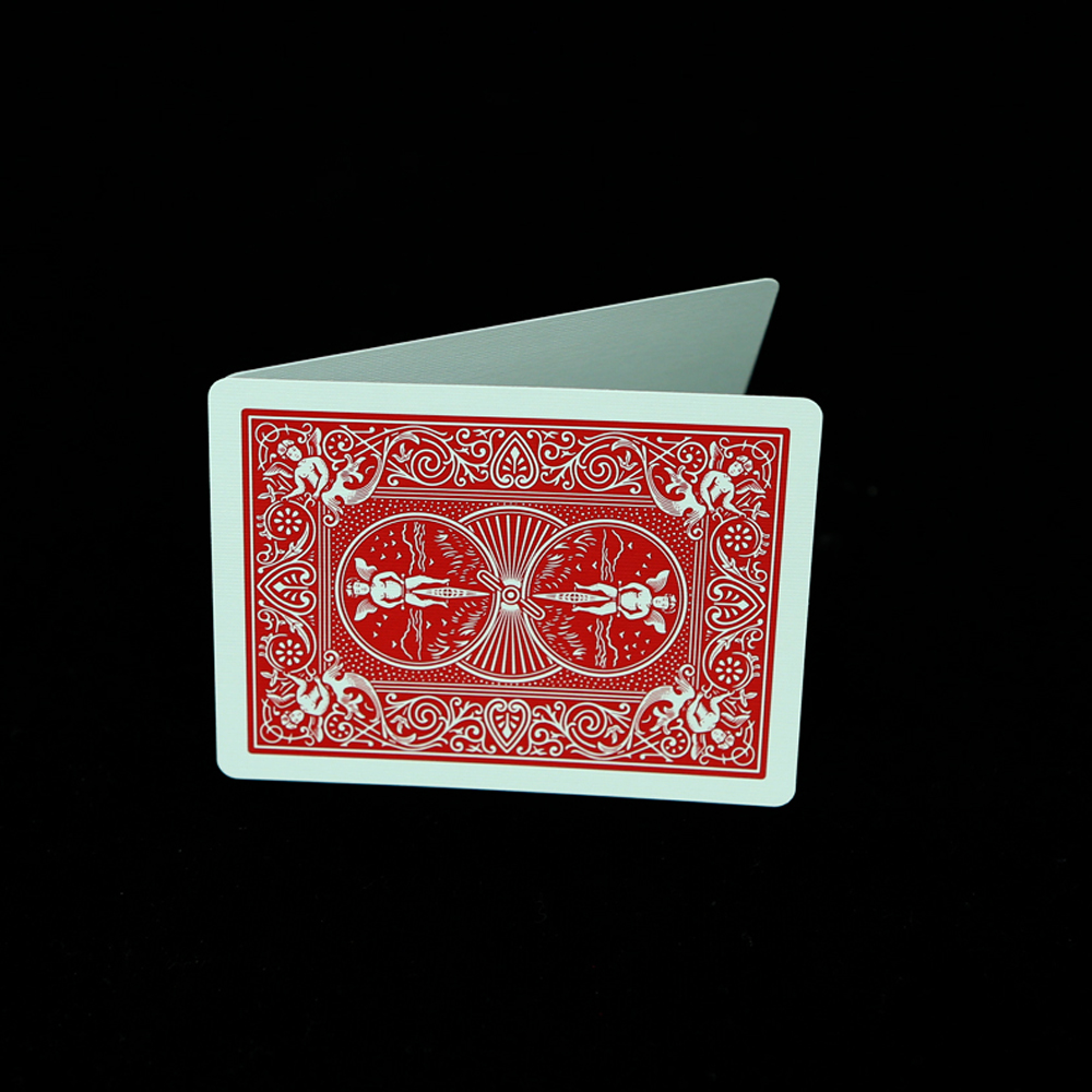 1 deck playing cards bicycle deck blank face red or blue