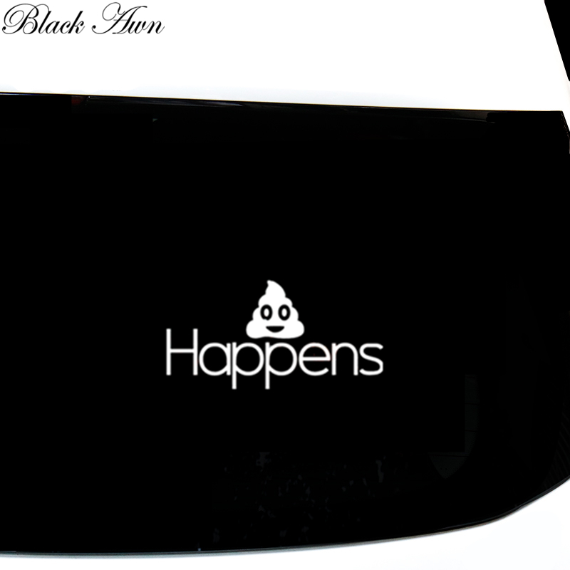 Shit Happens Funny Car Bumper Sticker Rude Sarcasm Vinyl Stickers D164 in Car Stickers from Automobiles Motorcycles