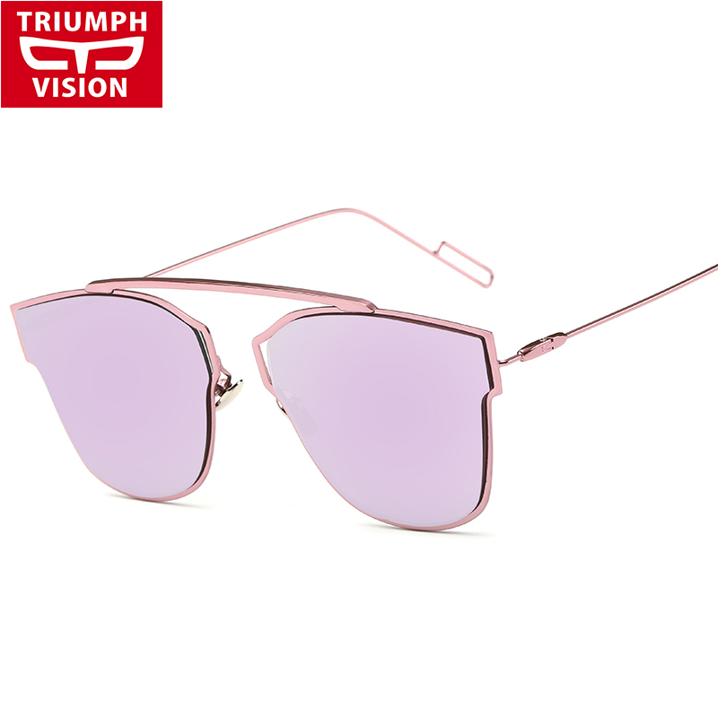 Triumph Vision French Brand Metal Designer Sunglasses Woman Fashion Trends Eyewear Sun Glasses