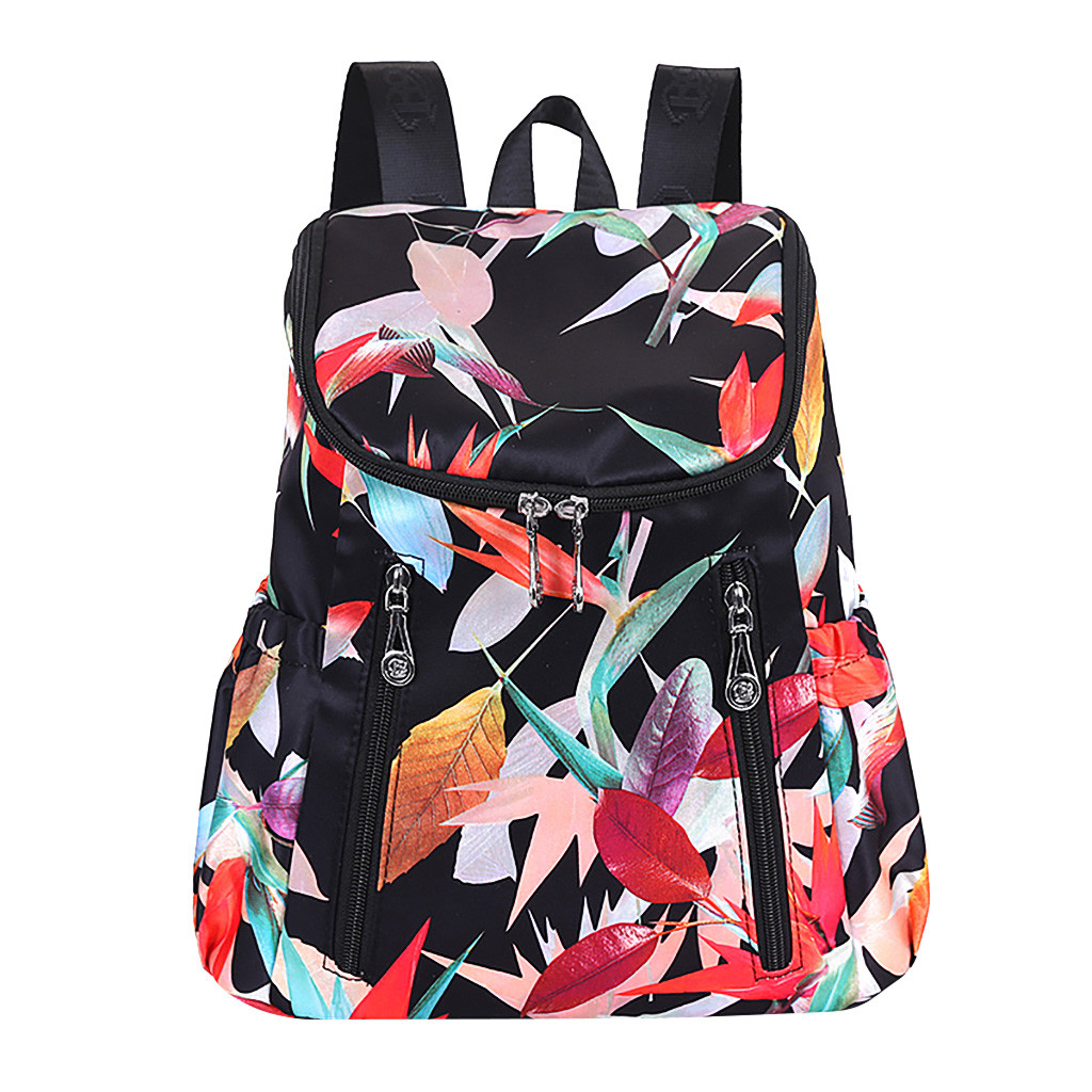 2019 New Fashion Women's Large Capacity Flower Printed Ethnic Style Waterproof Nylon Shoulders Causal Backpacks dropshipping 621(China)