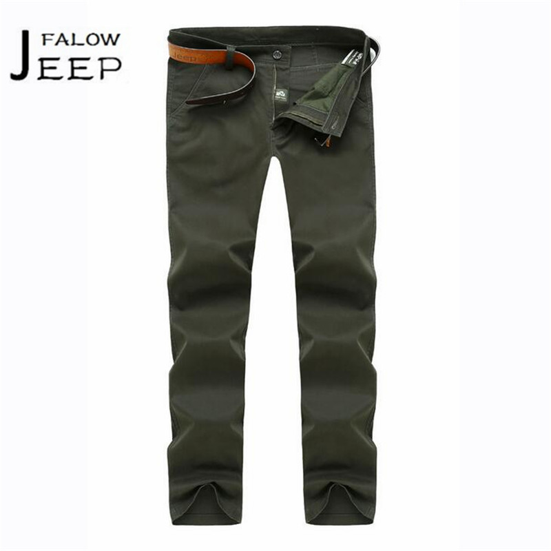 Falow JI PU 30 to 42 Thick Cotton Autumn mans Motorcycle Workers field working pant,male Full Length bragas ocasionales male